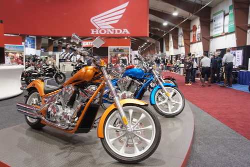 Honda display, Vancouver Motorcycle Show 2011, Tradex Exhibition Centre, Abbotsford, BC