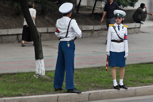 OH NO! PYONGYANG TRAFFIC LADIES BEING RETIRED ?? 5381476545_6857d6296a