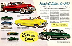 """Better Buy Buick"" (saltycotton) Tags: car vintage magazine buick automobile gm riviera ad husband convertible advertisement 1950s transportation wife colliers 1950 stationwagon generalmotors roadmaster jetback"