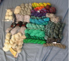 Stash - handspun and dying yarn