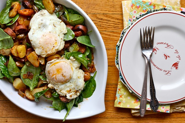 Spinach and Potato Breakfast Hash | Joy the Baker