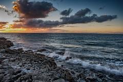 Flaggy Shore Sunset (Evoljo) Tags: ireland nikon d500 sunset flaggyshore water hdr stones sky clouds sun countyclare
