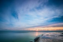 Miami Morning (photosbydmitriy) Tags: 6d clouds rocks sunrise inlet paintedsky longexposure water ocean sky seascape miami canon southflorida florida balharbour unitedstates us