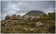Stone stacks below the summit (Hugh Stanton) Tags: rocks stones summit skye lowcloud
