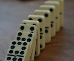 In a Row - Domino Drop - TROML - 1677 (Clint__Budd) Tags: macromondays inarow dominos