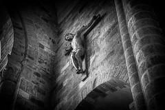 Abbey crucifix (Rayoflightbe) Tags: normandi travel normandy mont saint michel abbey black white crucifix architecture
