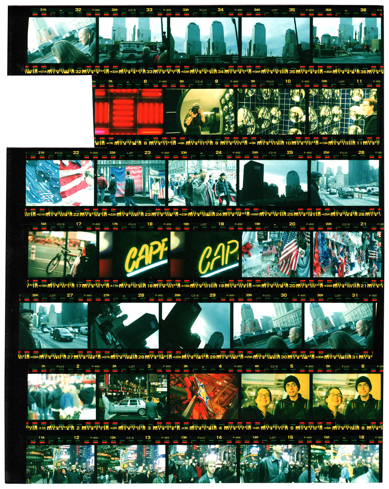 NYC contact sheet blog