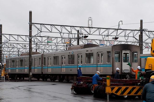 東京メトロ東西線05系05-110F 05-410,310 搬出