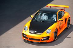 Porsche GT Street Cup from Techart (fourcross) Tags: street orange cup car nikon porsche gt 70200 f28 techart sb800 d700 sb900