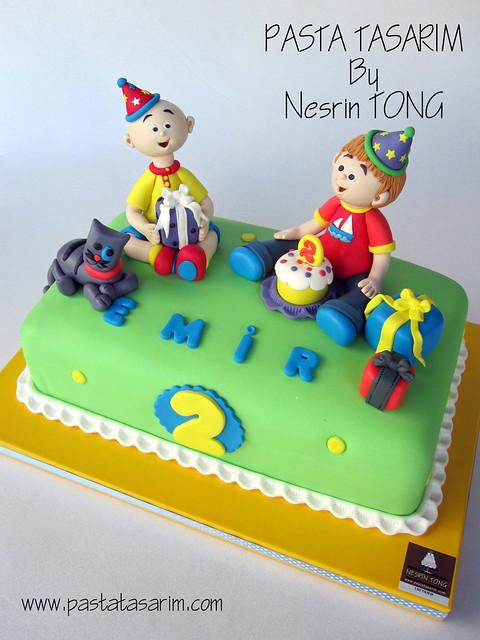 EMIR 2ND BIRTHDAY CAKE - EMIR AND CAILLOU AND GILBERT