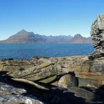 The Black Cuillin from Joe's rock, Elgol, Isle of Skye thumbnail