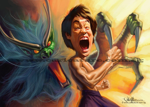 digital caricature of Bruce Lee - 9 small