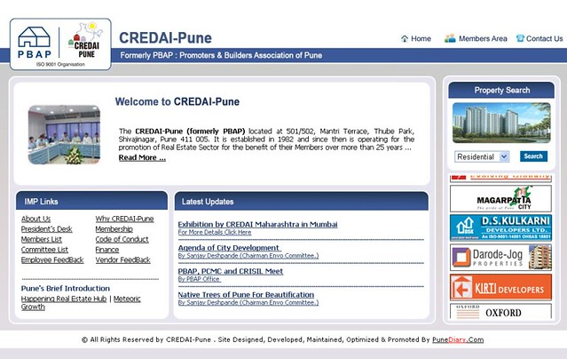 www.CredaiPune.org formarly PBAP : Promoters & Builders Association of Pune