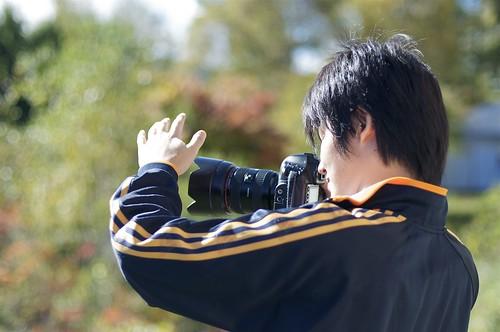 Taiga y su cámara, inseparables