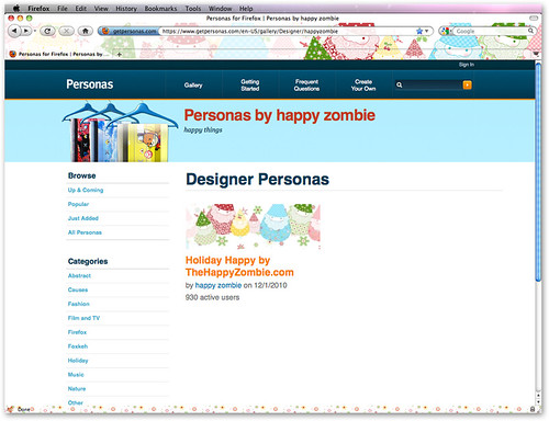 Holiday Happy Firefox persona