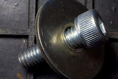 6mm Cap Screw and Penny Washer (tudedude) Tags: macro thread screw model steel machine engineering tools workshop bolt precision nut fitting wingnut gbr fastener threaded nutbolt hexhead allenkey caphead machinescrew countersunk posidrive tudedude