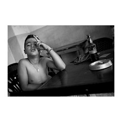 . (Emmanuel Smague) Tags: leica travel boy portrait people blackandwhite bw film beer bar 35mm photography kid europe child report documentary smoking mp balkans albania emmanuelsmague