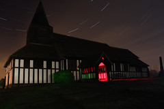 congelton church (explore the darkness (NFG)) Tags: light red moon green church night canon painting stars trails full fullmoon 450d