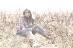 Sidney (JohnPackman) Tags: autumn trees girls toronto ontario canada cute fall girl beautiful beauty grass leaves fashion forest fun outdoors model warm location elite plaid fille sidney canadiana