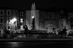 Rome by Night - Piazza della Republicca (frank thompson photos) Tags: nightphotography bw italy rome roma fountain blackwhite italia fuente fontana bianconero blanconegro piazzadellarepublicca