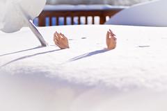 Snowy Surrender (John Pihaly) Tags: snow storm hands deep shovel blizzard drift burried
