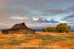 Sunrise in the Tetons (diana_robinson) Tags: tetons hdr grandtetonnationalpark mormonbarn dianarobinson nikond3s