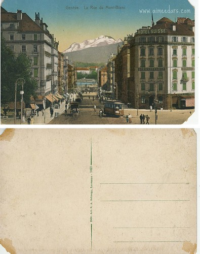 Geneve - La Rue du Mont-Blanc