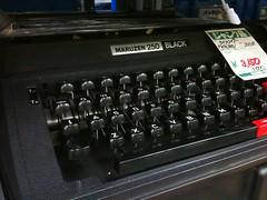 ハードオフ新津店にて:タイプライター