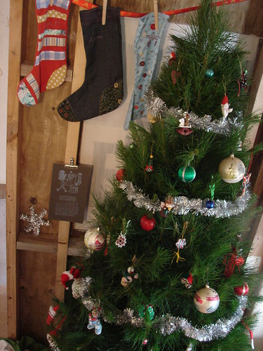 Christmas tree and stockings