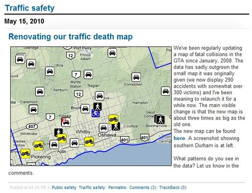 Toronto Star traffic death map