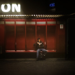 ON () Tags: street portrait man paris france guy andy underground photography reading book nikon neon strada metro andrea libro stranger andrew read uomo fotografia legge francia ritratto metropolitan parigi leggere sconosciuto benedetti sottoterra d7000