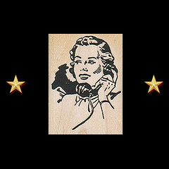 1950s Woman On Phone Rubber Stamp - Retro Craft Stamps (RubberShow) Tags: woman black art vintage scrapbooking paper telephone craft rubber retro stamp clip 1950s clipart etsy rubberstamp rubberstamping craftsupplies papercrafts craftstamps