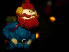 Yukon Cornelius. Prospector, adventurer, warrior-poet. (The Jer) Tags: christmas holiday tree tag3 taggedout beard reindeer gold tag2 tag1 ornament rudolph yukoncornelius porcelain peppermint prospector
