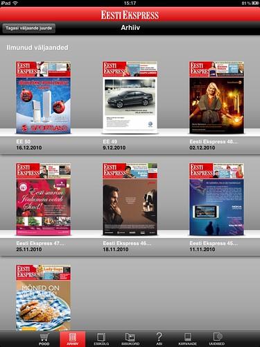 Eesti Ekspress iPadil: arhiiv
