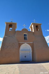 Full Frontal (pam's pics-) Tags: newmexico church worship catholic religion pray taos nm ranchosdetaos taosnewmexico northernnewmexico pammorris labordayroadtrip nikond5000 denverpam stfrancisassis