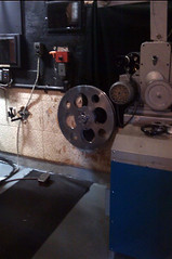 Not sure why we have this even. Its a platter reel. About three feet across. Holds, I believe, 20-30 minutes of film.