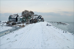 a winter's tale.. (leuntje (on tour)) Tags: winter snow netherlands explore marken ijsselmeer markermeer gouwzee rozewerf