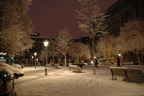 Liege with snow
