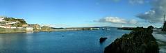 Mevagissey Harbour-11. Panorama. Nikon P100. DSCN0004 (Robert.Pittman) Tags: uk england panorama lighthouse boat cornwall december harbour mevagissey nikonp100