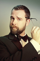 Meeester Bond (Mr. Moog) Tags: bear man male beard rob suit spy tux