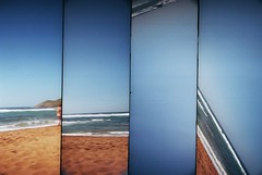 beach (unlimitedrefills) Tags: camera beach lomo lomography supersampler sampler playa super camara menorca platja