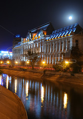 Palace of Justice (mihaela.mtphoto) Tags: reflection building tourism water night justice palace romania bucharest