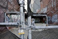 Locked (whimsicalbunneh) Tags: urban graffiti gate perth exploration locked urbex 1645mm