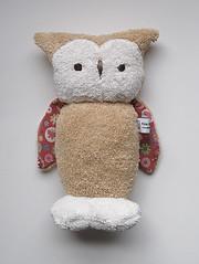 custom-sand-red (Polar Bear Creations Dolls) Tags: natural waldorf plush owl softtoy babytoy