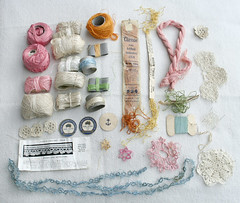 Treasures from the op-shop (gooseflesh) Tags: store treasure crochet fine thrift tatting opshop