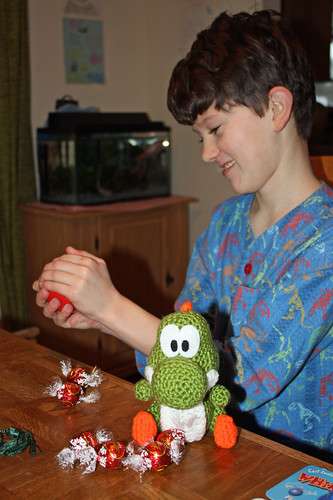 Ross with Yoshi