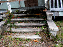 Steps Front Porch House Starke Condemned