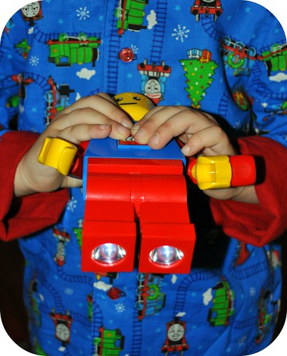 Lego Man wind up flashlight