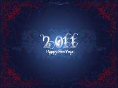 Happy New Year - 2011 [Blue] (MIDO) Tags: new happy year newyear egyptian happynewyear  mido 2011   midodesigns  mohamedhussein