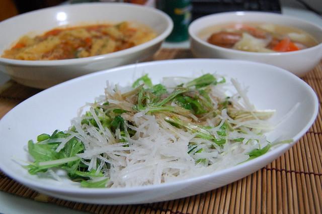大根サラダにバルサミコ酢で。 #jisui